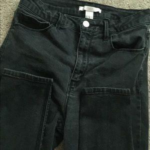 High waisted black forever 21 jeans